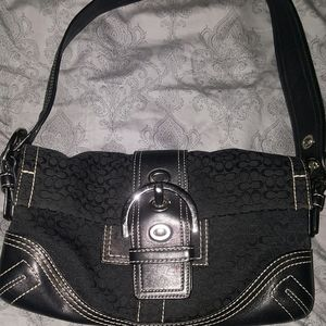 Authentic Coach purse  black with silver buckles